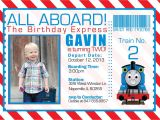 Thomas the Train Photo Birthday Invitations Birthday Thomas the Train Invitation Digital by