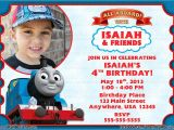 Thomas the Train Photo Birthday Invitations Thomas the Train Birthday Party Invitations Thomas the
