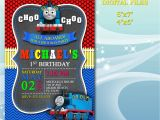 Thomas the Train Photo Birthday Invitations Thomas the Train Invitation for Birthday Party by Diartimage