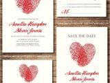 Thumbprint Heart Wedding Invitation 10 Heart Wedding Invitations Sure to Spread the Love