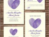 Thumbprint Heart Wedding Invitation Wedding Invitation Printables Finger Print Heart