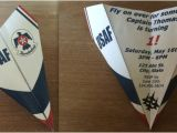 Thunderbirds Party Invites Custom Us Air force Thunderbirds Paper Airplane Invitation