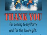 Thunderbirds Party Invites Personalised Thunderbirds Thank You Cards