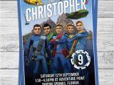 Thunderbirds Party Invites Thunderbirds Birthday Party Invitations for by