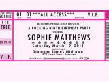Ticket Birthday Invitation Template 24 Images Of Vip Pass Template Microsoft Word Leseriail Com
