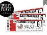 Ticket Birthday Invitation Template Birthday Sports Ticket Invitation Invitation Templates