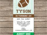 Ticket Birthday Invitation Template Football Ticket Invitation Template Ticket Invitations