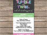 Ticket Birthday Invitation Template Gymnastics Party Ticket Invitations Birthday Party