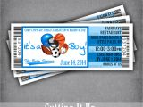 Ticket Invitations for Baby Shower All Star Baby Shower Ticket Invitation It S A Boy Sports