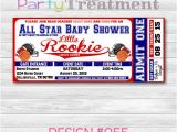 Ticket Invitations for Baby Shower All Star Sports Baby Shower Ticket Invitation by