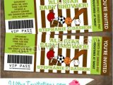 Ticket Invitations for Baby Shower Sports Baby Shower Ticket Invitation All Star Sports Pass