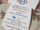 Ticket Invitations for Baby Shower Template Baseball Baby Shower Invitations