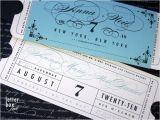 Ticket Stub Wedding Invitations formal Vintage Ticket Wedding Invitation