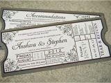 Ticket Stub Wedding Invitations Loved Our Wedding Invitations Shaped Like Movie Tickets