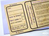 Ticket Stub Wedding Invitations Movie Ticket Wedding Invitations Wedfest