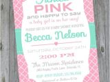 Tickled Pink Party Invitations Baby Shower Invitation Tickled Pink Girl