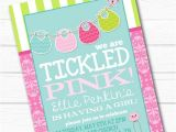 Tickled Pink Party Invitations Personalized Quot Tickled Pink Quot Onesie Bib Girls Baby Shower
