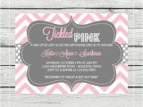 Tickled Pink Party Invitations Tickled Pink Baby Girl Shower Invitation Digital