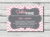Tickled Pink Party Invitations Tickled Pink Baby Girl Shower Invitation Digital Printable