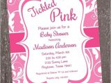 Tickled Pink Party Invitations Tickled Pink Baby Shower Invitation 1 00 Each with