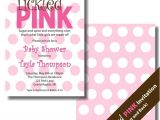 Tickled Pink Party Invitations Tickled Pink Baby Shower Invitation Tickled Pink Polka Dot