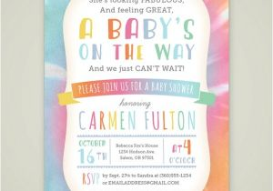 Tie Dye Baby Shower Invitations Printable Tie Dye Baby Shower Invitation Gender Neutral