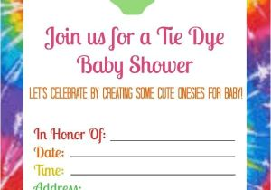 Tie Dye Baby Shower Invitations Summer Baby Shower with Tie Dye Esies