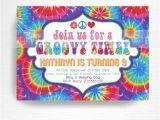 Tie Dye Party Invitations Printable Tie Dye Birthday Party Printable Invitation You Print