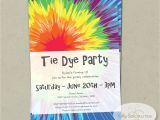 Tie Dye Party Invitations Printable Tie Dye Invitation Instant Download Editable Text Pdf that