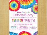 Tie Dye Party Invitations Printable Tie Dye Invitation Printable