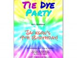 Tie Dye Party Invitations Printable Tie Dye Party Art Birthday Party Invitation by Purplechicklet