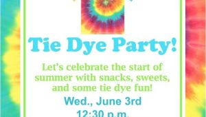 Tie Dye Party Invitations Printable Tie Dye Party Fundiy Show Off Diy Decorating and Home
