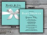 Tiffany and Company Baby Shower Invitations Gift Box Baby Shower Invitation Tiffany & Co Inspired