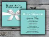 Tiffany and Company Baby Shower Invitations Gift Box Baby Shower Invitation Tiffany & Co Inspired