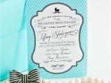 Tiffany Baby Shower Invites Breakfast at Tiffany S Inspired Printable Invitation