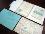 Tiffany Blue Pocket Wedding Invitations Champagne Wedding Invitation A Vibrant Wedding