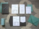 Tiffany Blue Pocket Wedding Invitations Tiffany Blue and Grey Wedding Invitation Design Sang Maestro