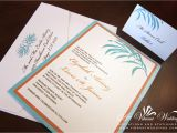 Tiffany Blue Pocket Wedding Invitations Tiffany Blue orange Wedding Invitation A Vibrant Wedding