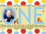 Tigger 1st Birthday Invitations Free Printable Winnie the Pooh Birthday Invitations