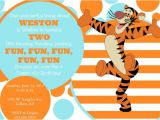 Tigger 1st Birthday Invitations Items Similar to Printable Customizable Tigger Party
