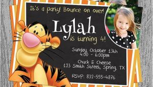 Tigger 1st Birthday Invitations Tigger Birthday Invitation Digital File by