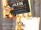 Tigger 1st Birthday Invitations Tigger Birthday Invitation Personalized Chalkboard