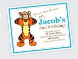 Tigger 1st Birthday Invitations Tigger Birthday Party Invitation Boy or Girl by