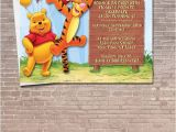 Tigger 1st Birthday Invitations Winnie the Pooh and Tigger Party Invitation Download Editable