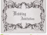 Time Frame for Wedding Invitations Retro Wedding Invitation Postcard with Frame Stock Image