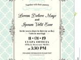 Time Frame for Wedding Invitations Vintage Wedding Invitation Border and Frame Stock Vector