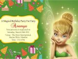 Tinkerbell Invitation Cards for Birthdays Birthday Party Invitation Card Invite Personalised Return