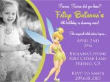 Tinkerbell Invitation Cards for Birthdays Tinkerbell Birthday Invitation with Photo by