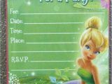 Tinkerbell Invitation Cards for Birthdays Tinkerbell Free Invitation