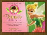 Tinkerbell Invitation Cards for Birthdays Tinkerbell Invitation Tinkerbell Pink and by